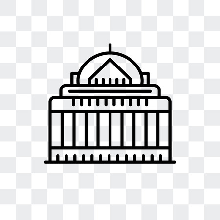National Mall vector icon isolated on transparent background, National Mall logo concept