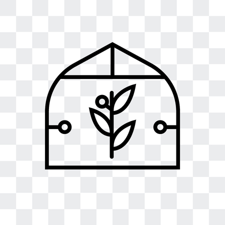 house vector icon isolated on transparent background, house logo concept Stock Illustratie