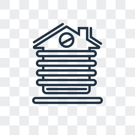 Cabin vector icon isolated on transparent background, Cabin logo concept Illustration
