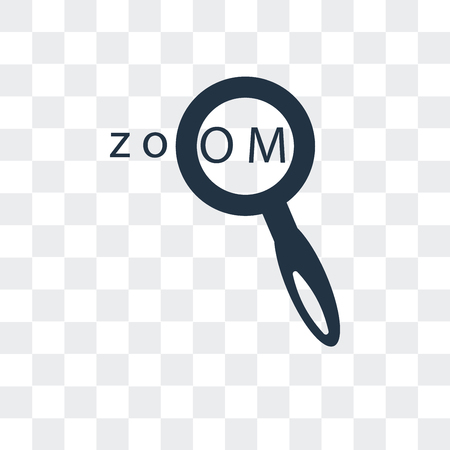Zoom In vector icon isolated on transparent background, Zoom In logo concept