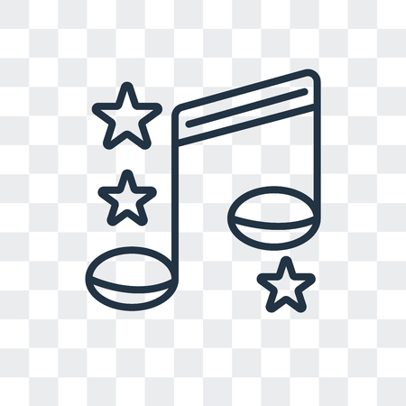 Song vector icon isolated on transparent background, Song logo concept Vectores