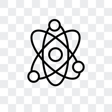 Icône de vecteur de physique isolé sur fond transparent, concept logo physique Logo