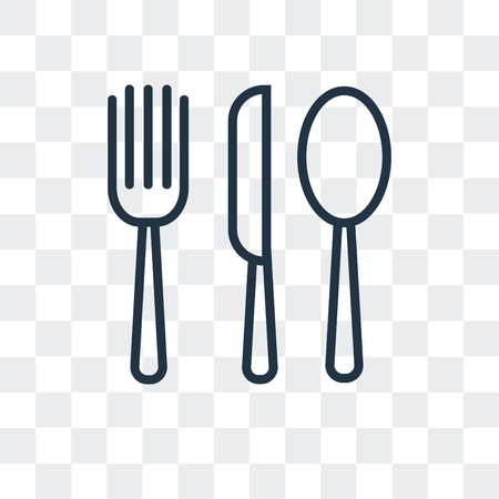 Cutlery vector icon isolated on transparent background, Cutlery logo concept