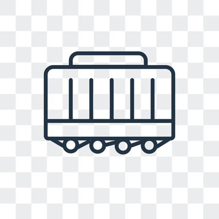 Wagon vector icon isolated on transparent background, Wagon logo concept 일러스트