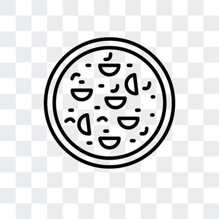 Fried tofu curd balls vector icon isolated on transparent background, Fried tofu curd balls logo concept Ilustração