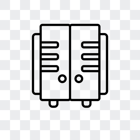 Icono de vector de taquillas aislado sobre fondo transparente, concepto de logo de taquillas