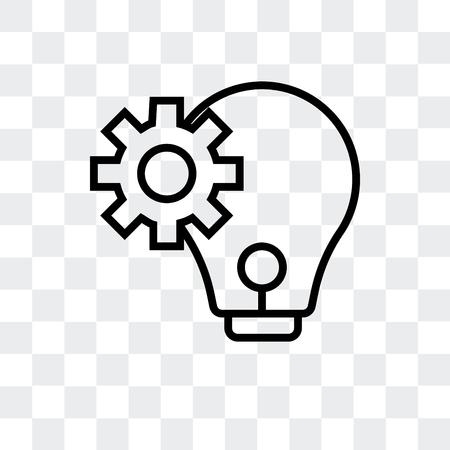 Pensez à l'icône de vecteur isolé sur fond transparent, pensez au concept de logo Logo