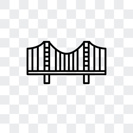 Zakim Bridge vector icon isolated on transparent background, Zakim Bridge logo concept Иллюстрация