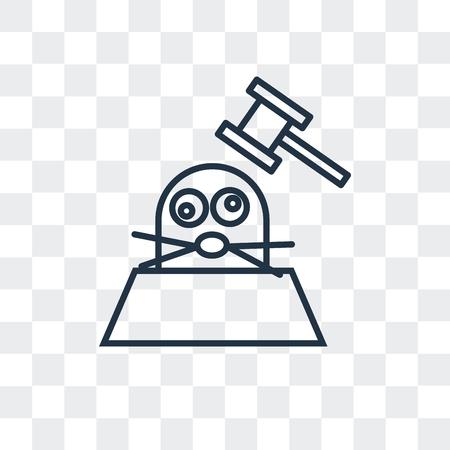 Icona di vettore di talpa isolato su sfondo trasparente, concetto di marchio di talpa