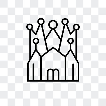 Church of the Holy Family vector icon isolated on transparent background, Church of the Holy Family logo concept Stockfoto - 107209345