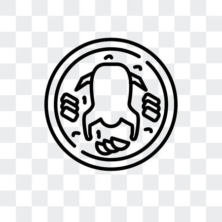Peking duck vector icon isolated on transparent background, Peking duck logo concept