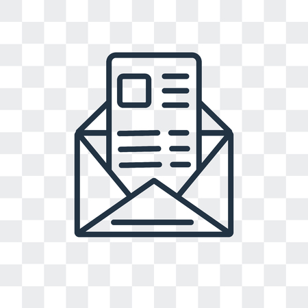 Invitation vector icon isolated on transparent background, Invitation logo concept