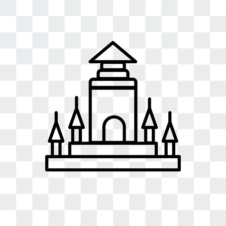Thatbyinnyu Temple vector icon isolated on transparent background