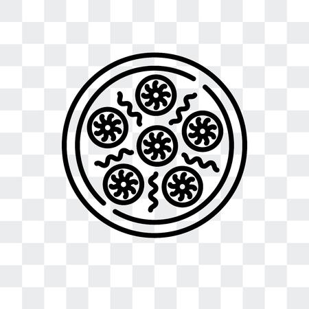 Baozi vector icon isolated on transparent background, Baozi logo concept Illustration