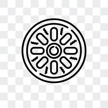 Mantou vector icon isolated on transparent background, Mantou logo concept