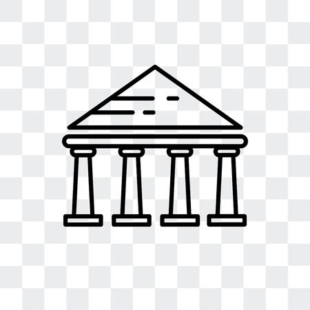Parthenonvektorikone lokalisiert auf transparentem Hintergrund, Parthenonlogokonzept