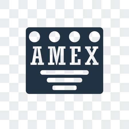 Amex vector icon isolated on transparent background, Amex logo concept