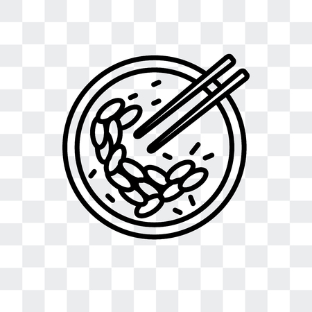 Oyster omelette vector icon isolated on transparent background, Oyster omelette logo concept Иллюстрация