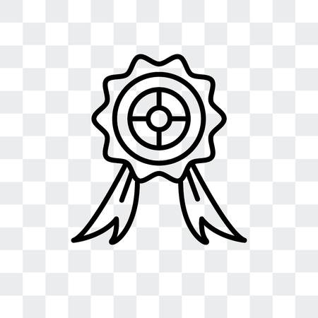 Badge vector icon isolated on transparent background  イラスト・ベクター素材