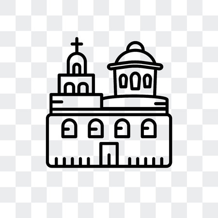 Domed Churches vector icon isolated on transparent background