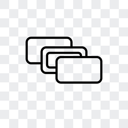 Depth perception vector icon isolated on transparent background  イラスト・ベクター素材