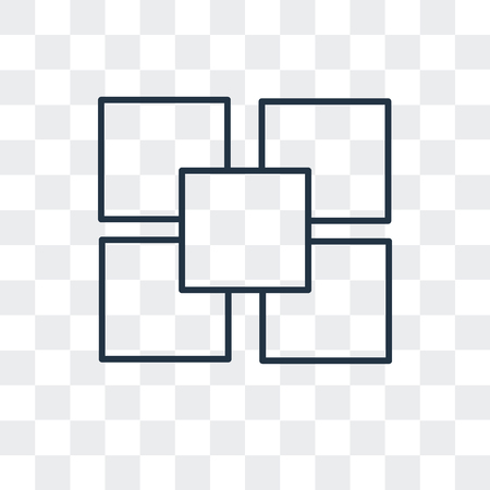Four squares vector icon isolated on transparent background Illustration