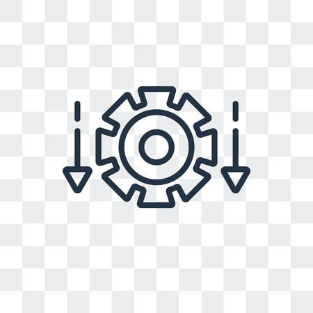 Differentiation vector icon isolated on transparent background, Differentiation logo concept 일러스트