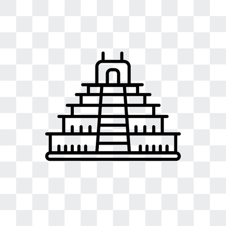 Teotihuacan vector icon isolated on transparent background, Teotihuacan logo concept