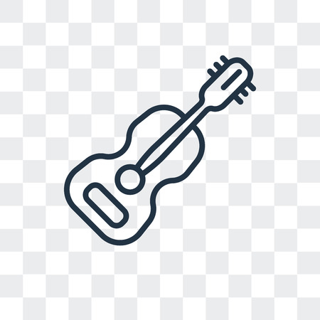 Guitar vector icon isolated on transparent background, Guitar logo concept Ilustração