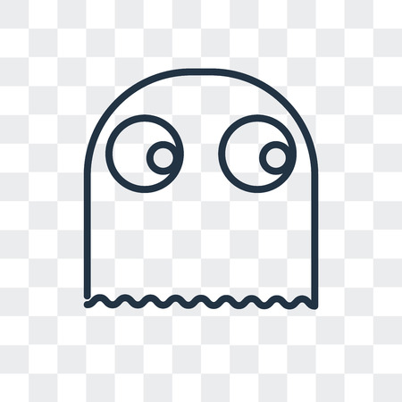 Ghost vector icon isolated on transparent background