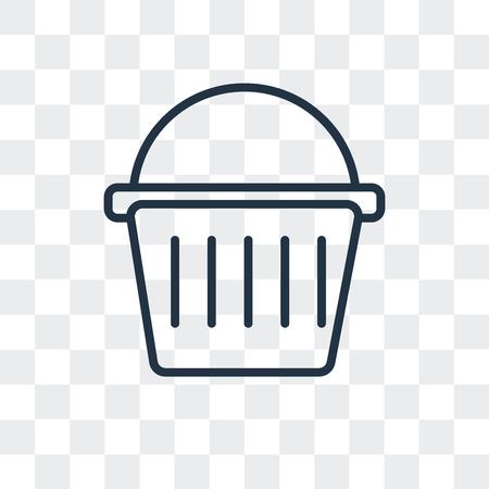 Picnic basket vector icon isolated on transparent background, Picnic basket logo concept Illustration