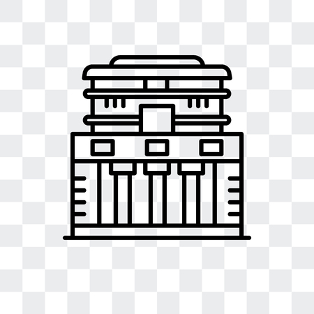 Temple of the Frescoes vector icon isolated on transparent background, Temple of the Frescoes logo concept