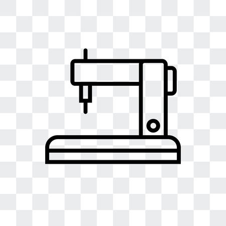 Sewing machine vector icon isolated on transparent background, Sewing machine logo concept