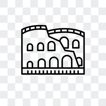 Colosseum vector icon isolated on transparent background, Colosseum logo concept Illusztráció