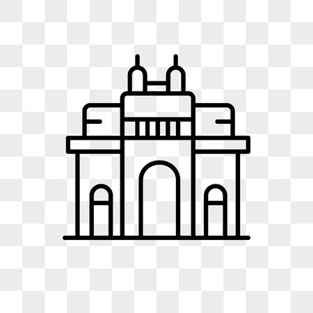 Gateway of India vector icon isolated on transparent background, Gateway of India logo concept