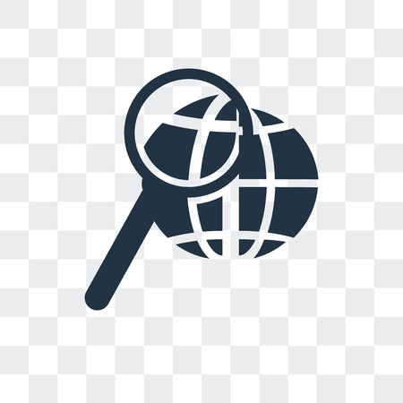 Search vector icon isolated on transparent background