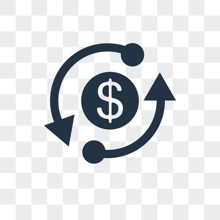Exchange vector icon isolated on transparent background, Exchange logo concept Stock Illustratie