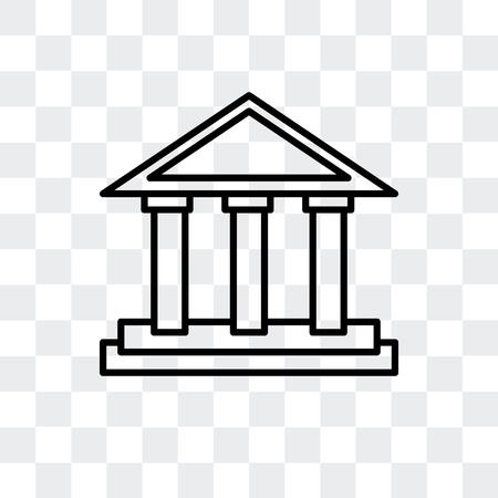 Parthenonvektorikone lokalisiert auf transparentem Hintergrund, Parthenonlogokonzept Logo