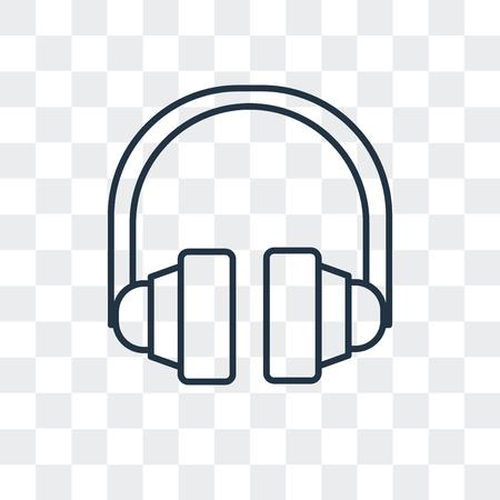 Headphones vector icon isolated on transparent background, Headphones logo concept 일러스트