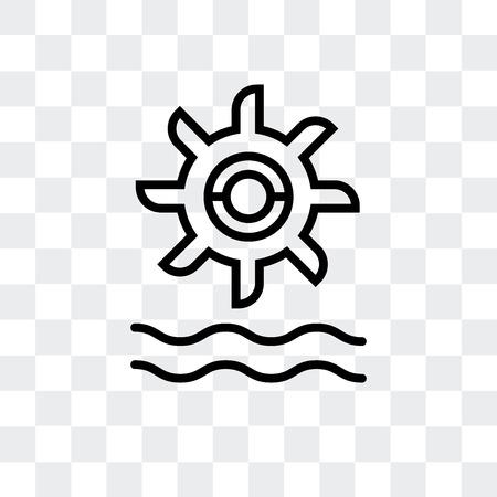Icona di vettore di energia idroelettrica isolato su sfondo trasparente, concetto di marchio di energia idroelettrica Vettoriali
