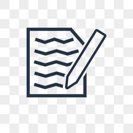 Icône de vecteur de fichier isolé sur fond transparent, concept logo fichier Logo