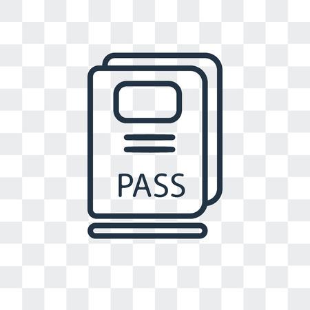 Passport vector icon isolated on transparent background, Passport logo concept