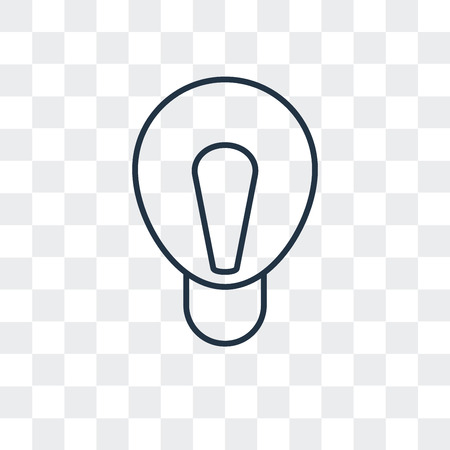 Light bulb vector icon isolated on transparent background