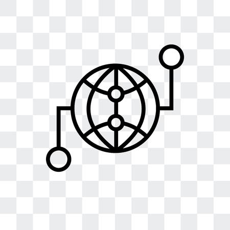 Worldwide vector icon isolated on transparent background Illustration