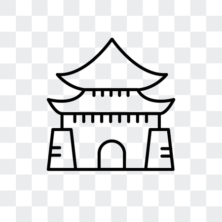 Chiang Kai Shek Memorial Hall vector icon isolated on transparent background Ilustração