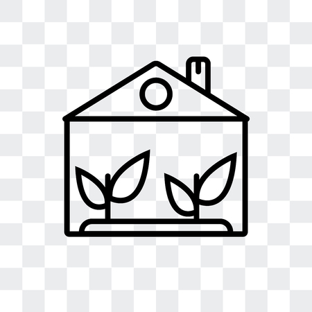 House vector icon isolated on transparent background Stockfoto - 107232518