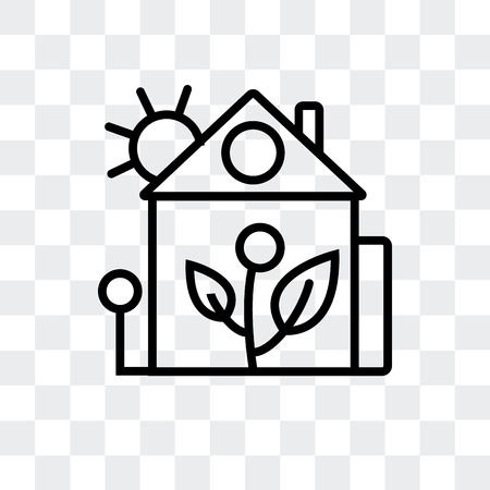 House vector icon isolated on transparent background