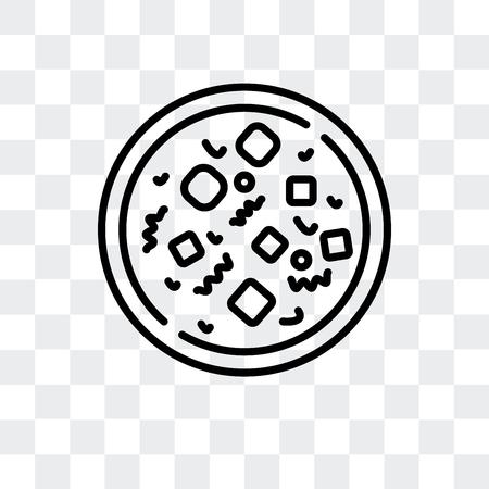 Mapo tofu vector icon isolated on transparent background