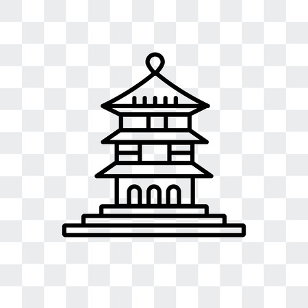 Hall of Supreme Harmony in Beijing vector icon isolated on transparent background