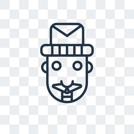 Nutcracker vector icon isolated on transparent background